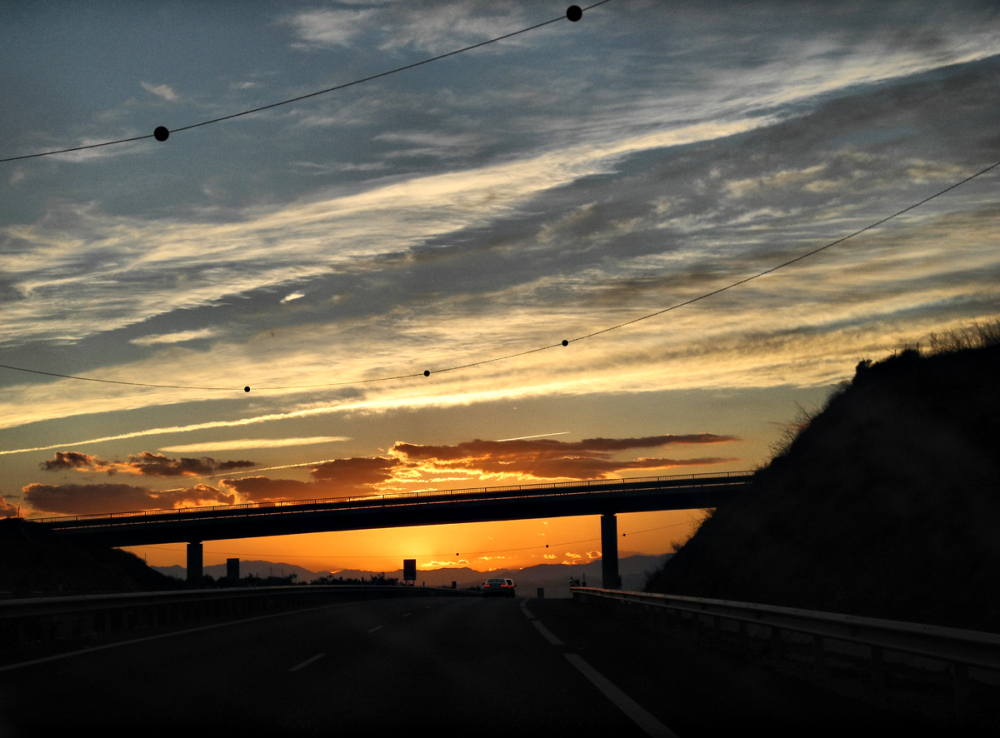 Sunset Coast Drive By Axarquia Andalucia Spain