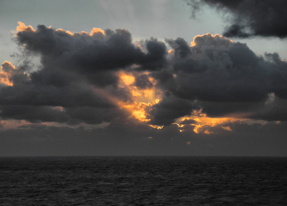 Sunset Ferry Bay of Biscay