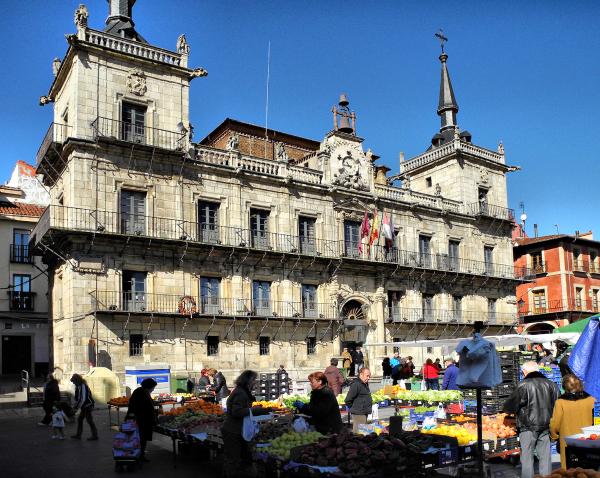 Leon Spain Plaza Mayor