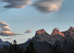 The Three Sisters Sunset and Moon