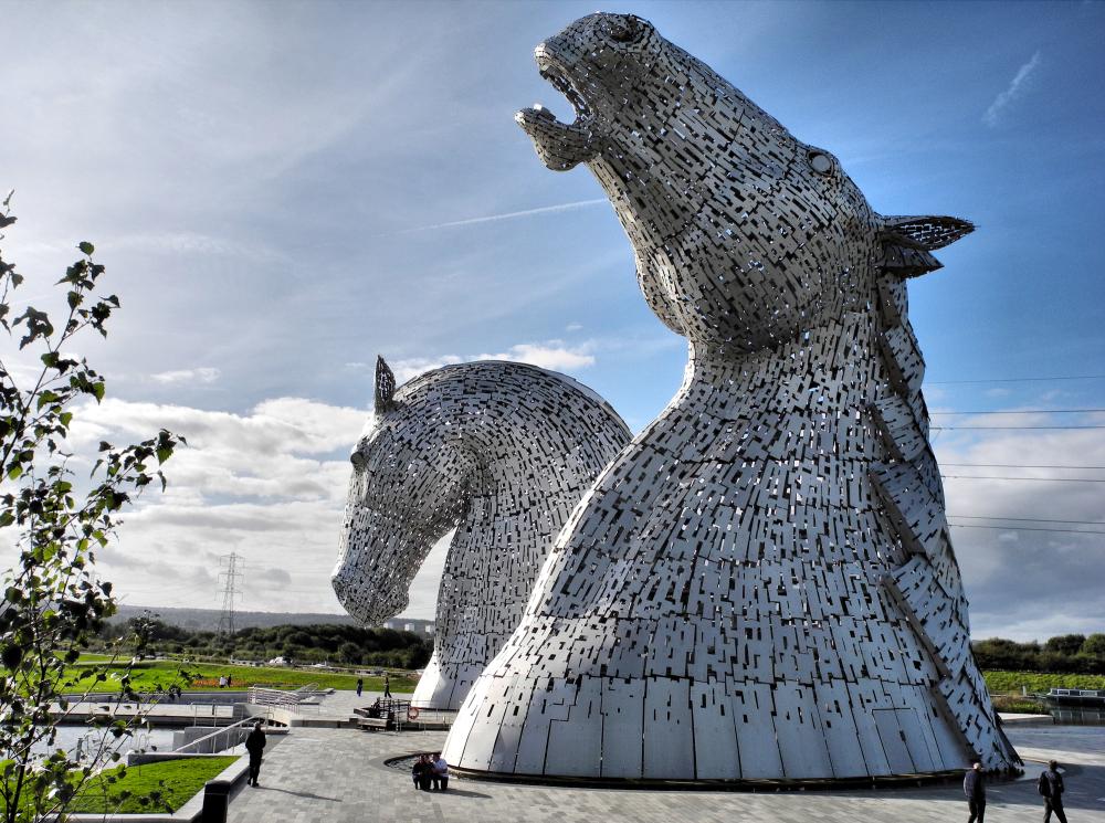 Falkirk Kelpies Scotland UK