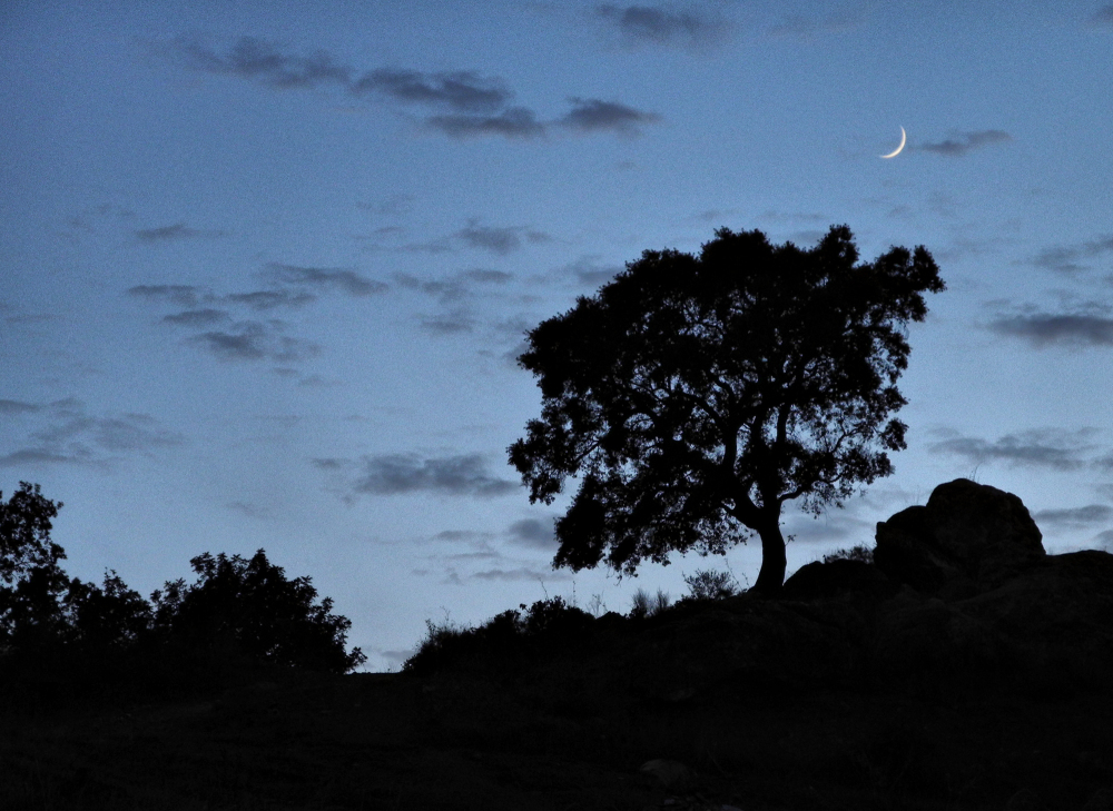 Comares Axarquia Andalusia Spain Moonrise