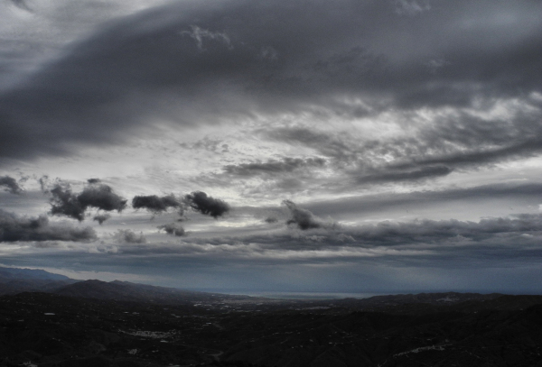 Comares Axarquia Andalusia Spain Clouds