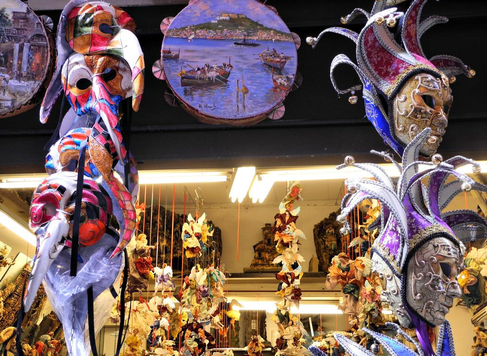 Naples Carnival Masks Italy