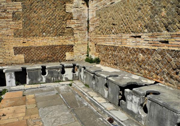 Ostia Antica Italy Toilets