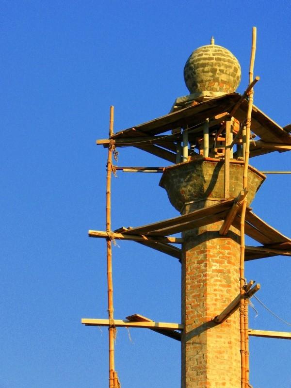 Mosque Minarate Under Construction