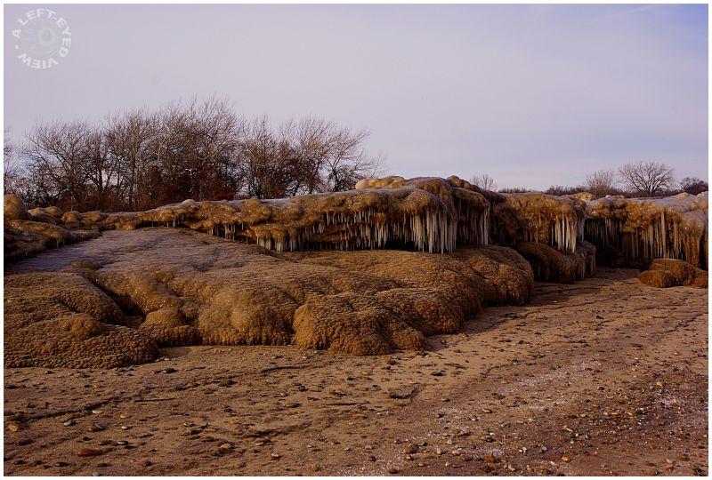 Frozen sand, Waukegan