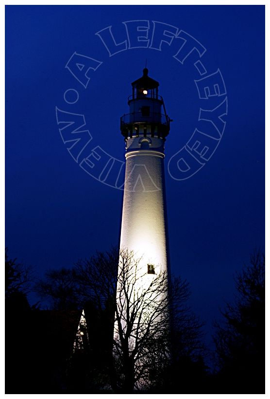 """Lighthouse, """"Wind Point"""", """"A Left-Eyed View"""""""
