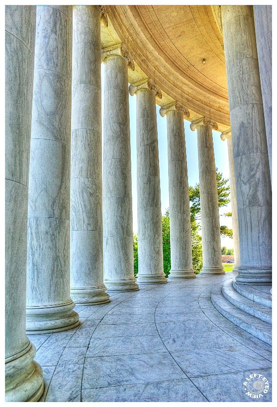 "Colonnade, Jefferson Memorial, ""A Left-Eyed View"""