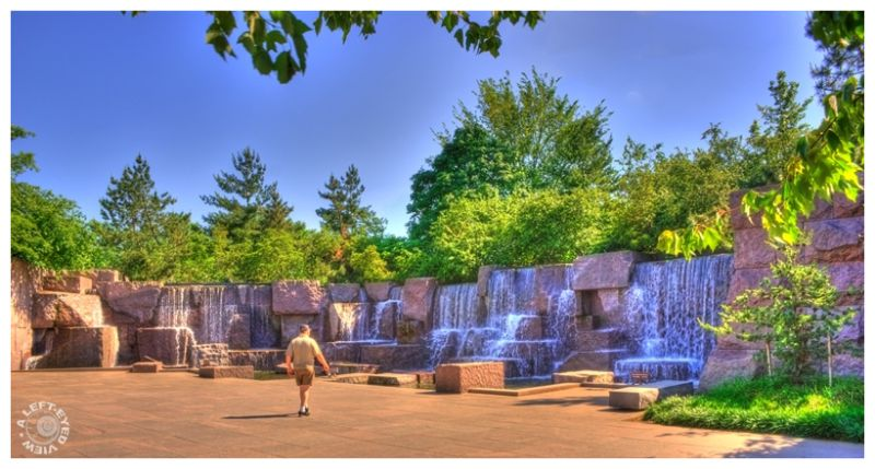 """Roosevelt Memorial Waterfall"", ""Washington, DC"""