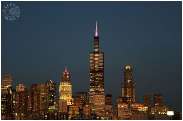 """Chicago Skyline"","