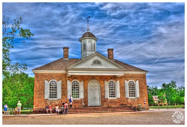 Courthouse, Colonial Williamsburg, Left-Eyed View