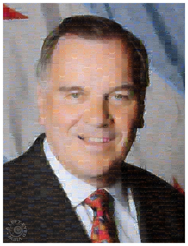 """Richard M. Daley"", mosaic, ""A Left-Eyed View"""