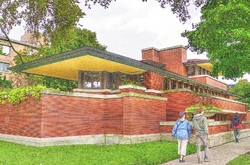 Colored Pencil of the Robie House #1