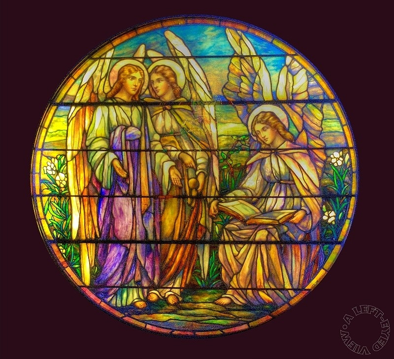 "Sabourin, ""Roundel with Three Angels"""