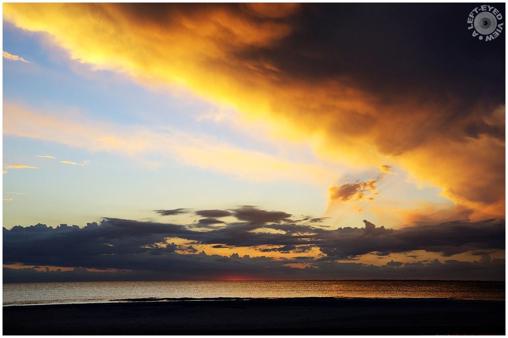 """A Left-Eyed View"", Sabourin, Sunset"