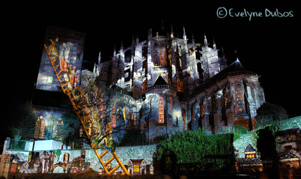 Le Mans by night - Xmas lights -  (1)
