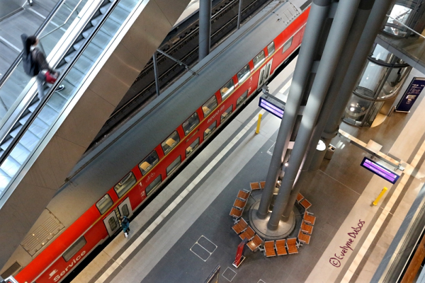 La gare centrale Berlin Hauptbahnhof.