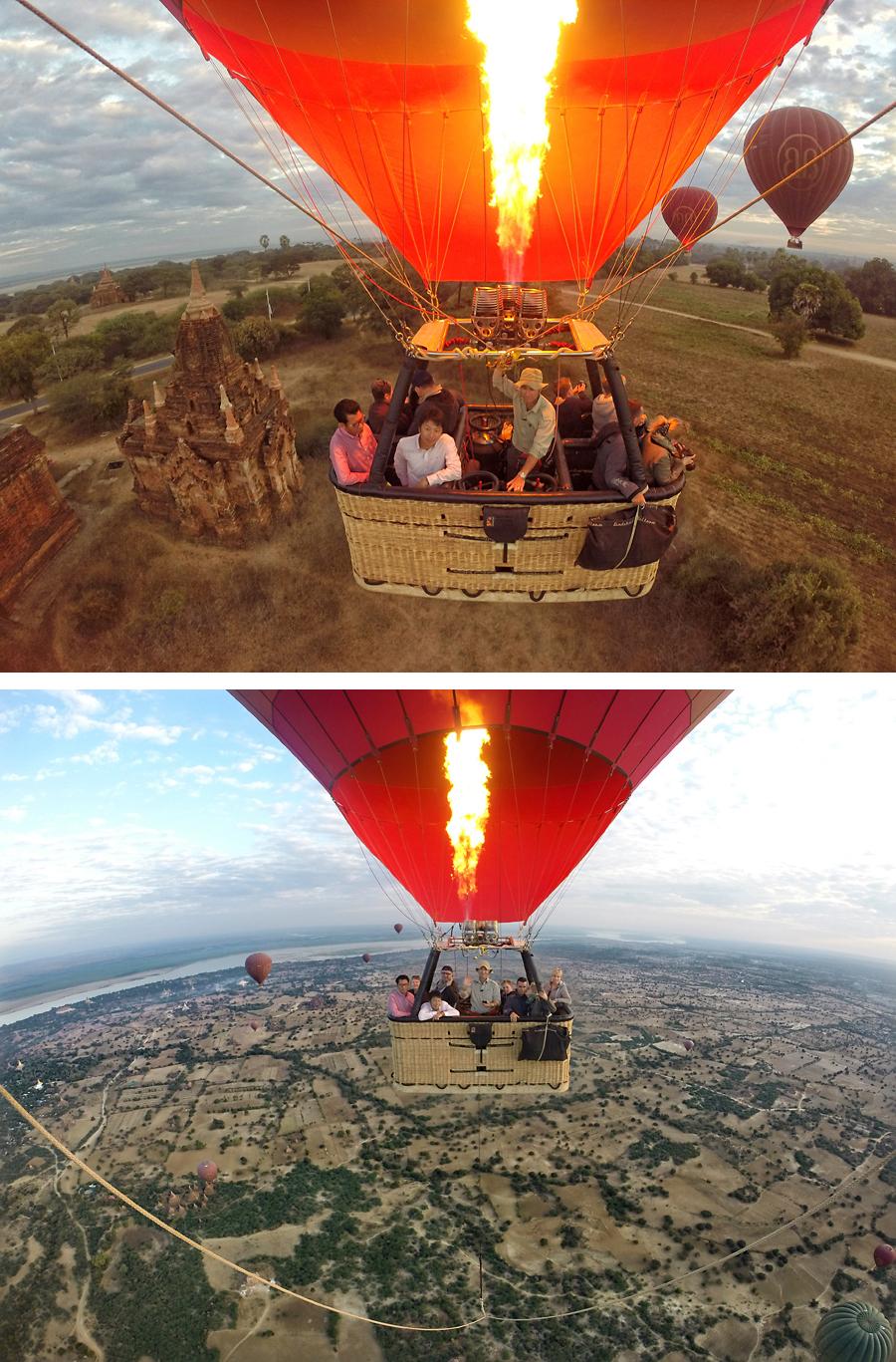 Vol au-dessus de Bagan -2-