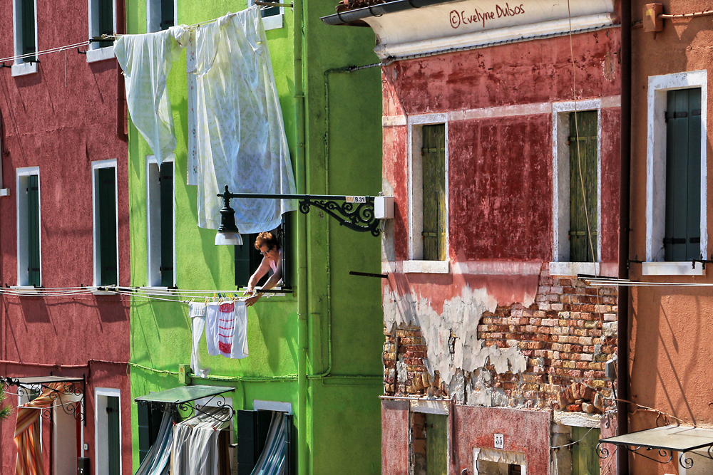 Scène de vie à Burano.