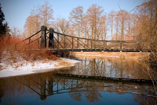 Foot bridge in Forest Park, St. Louis