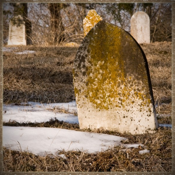weathered tombstone