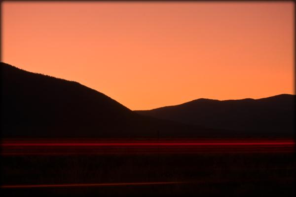 Taillights at dawn