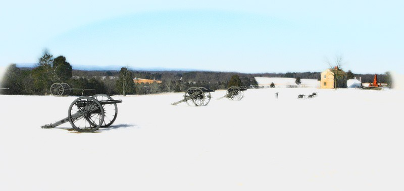 manassas battlefield in winter