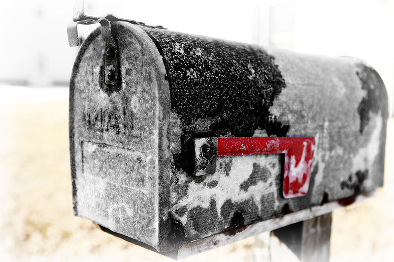 salt coverd mailbox