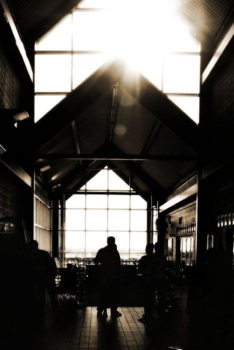 light entering a building