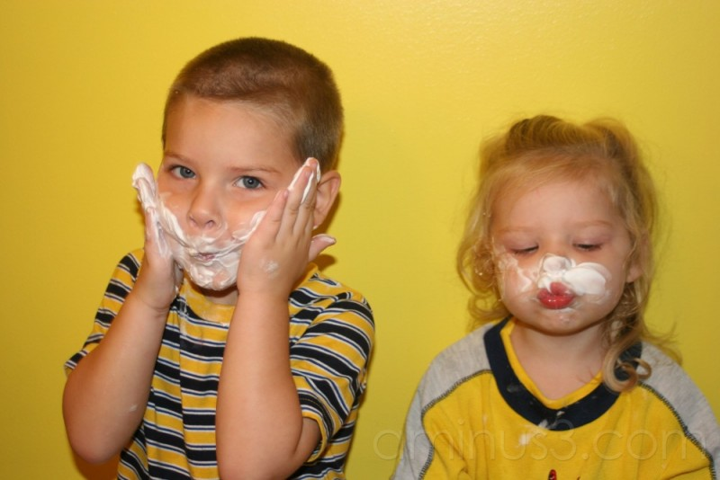 Kids wanting to shave like dad