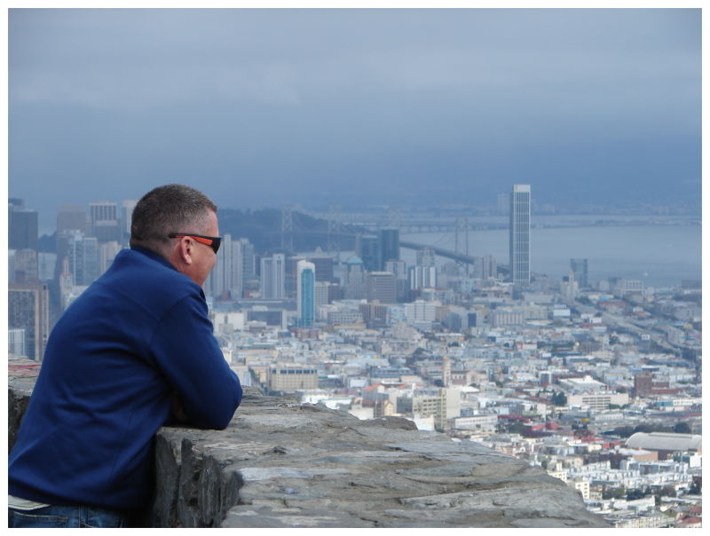 Bob looking out over the city of San Francisco