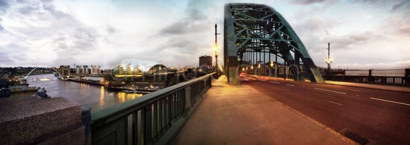The Tyne Bridge Newcastle upon Tyne panoramic view