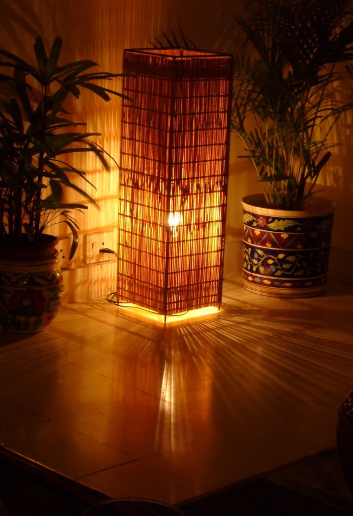 A Cane Lampshade From Thailand