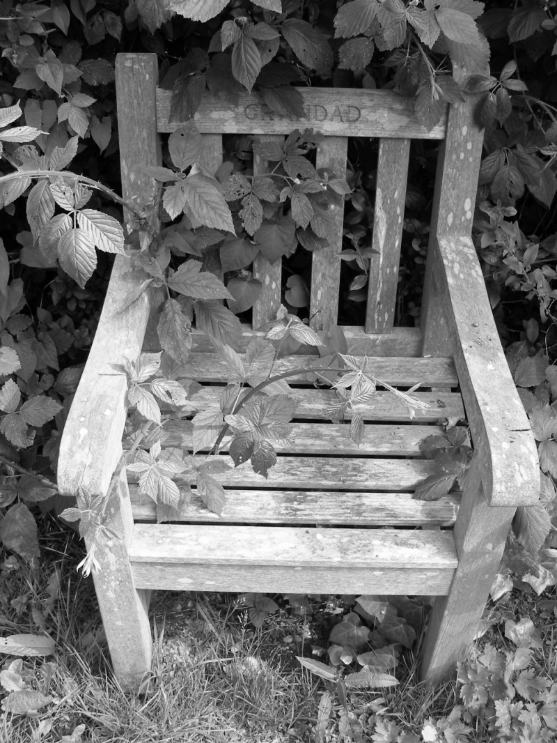 A chair for grandad at Highgate in London