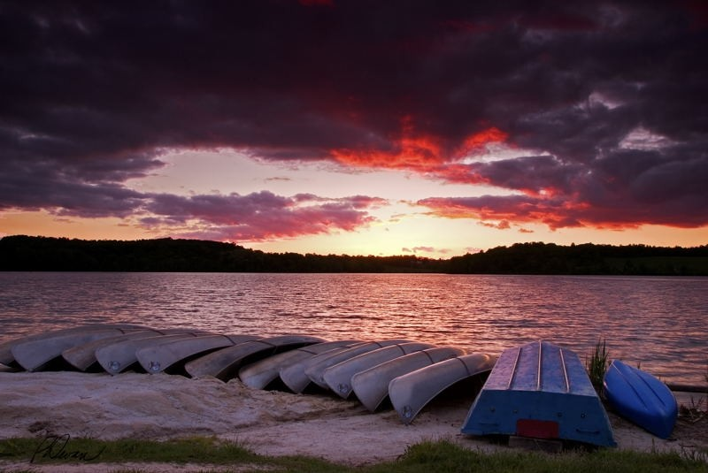 Marsh Creek Lake at Sunset