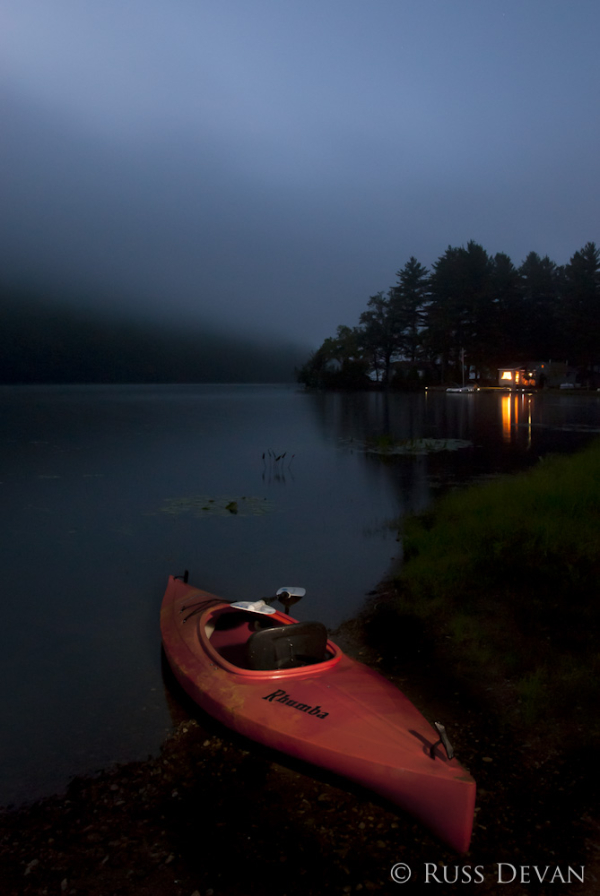 Approaching Fog on Oxbow Lake