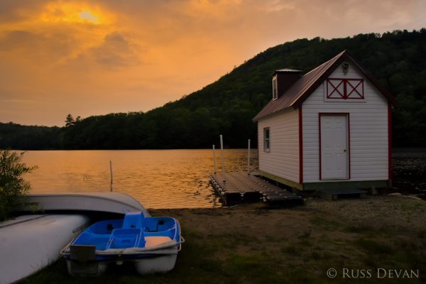 Boathouse Sunset