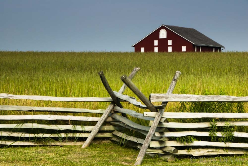 Barn and Wheat Field, Gettysburg Battlefield