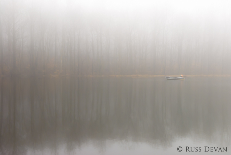 Fog On Scott&#039;s Run Lake