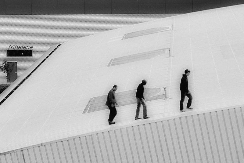 """Je soumets cette photo - Trois sur le toit - pour le dernier thème lancé par Aminus3 :""""The Power of three """""""
