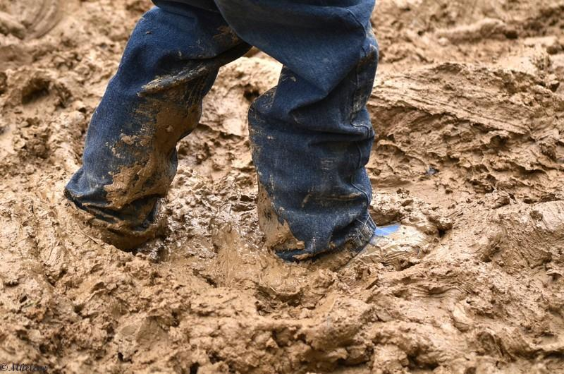 In the mud in a good mood