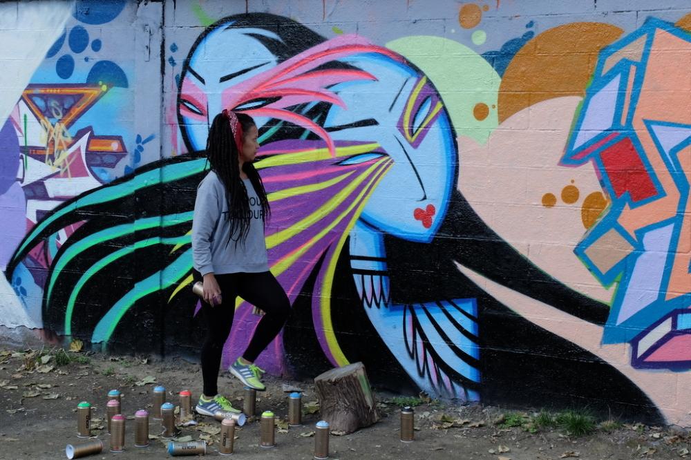 Street artist Kaldea Nakajima
