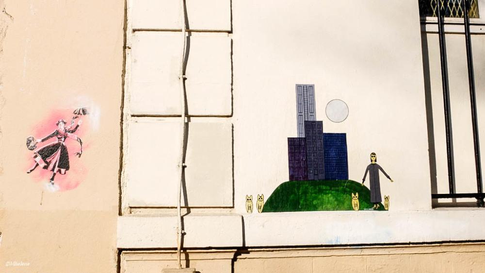 Art et façade au soleil