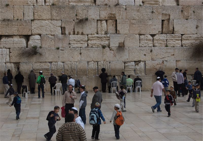 The Western Wall, Men's side, Jerusalem