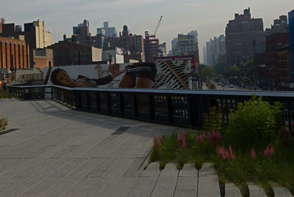 Billboards along the HighLine, NYC
