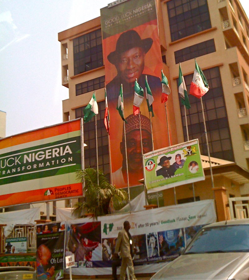 Election campaign in full swing, Abuja, Nigeria