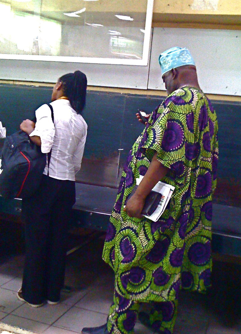 At the luggage carousel, Abuja