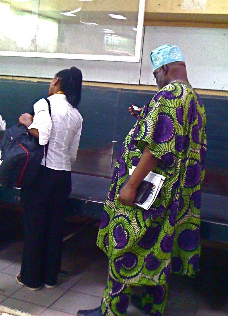 At the luggage carousel, Abuja