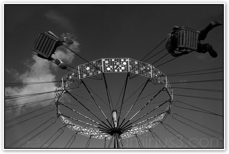 In the air - black and white photo by richo